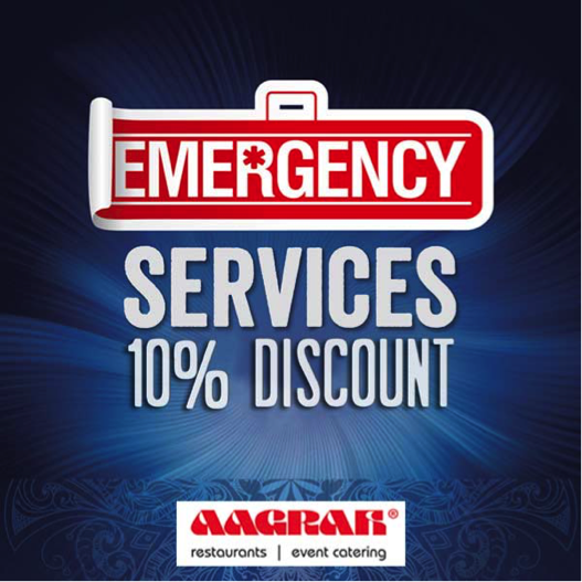 Emergency Services (Police, Fire & NHS) Offer* - Aagrah